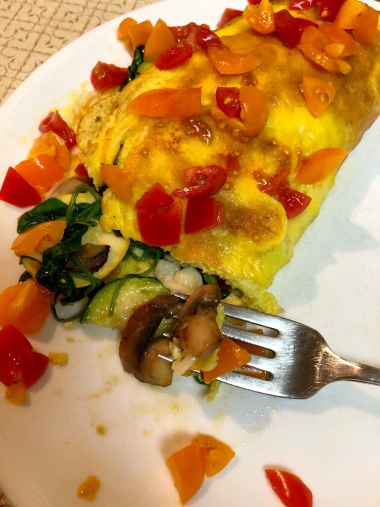 Copycat Loaded Veggie Omelet
