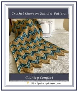 Crochet Chevron Blanket Pattern 1