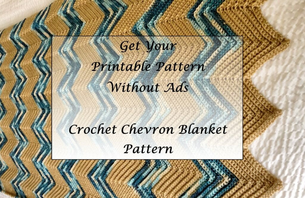Crochet Chevron Blanket Pattern Printable