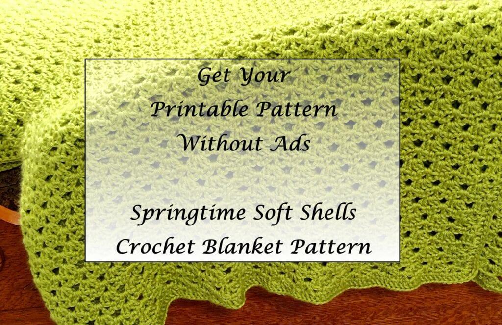 Springtime Soft Shells Crochet Blanket Pattern Printable