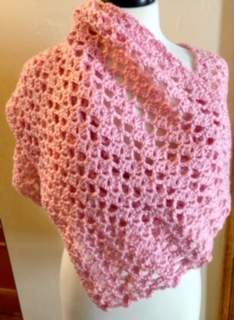Victoria Lacy Shawl styled