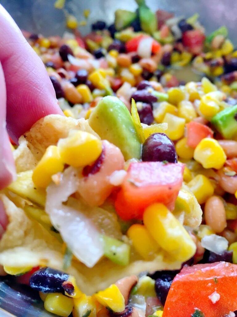 Fresh Salsa on Corn Chip