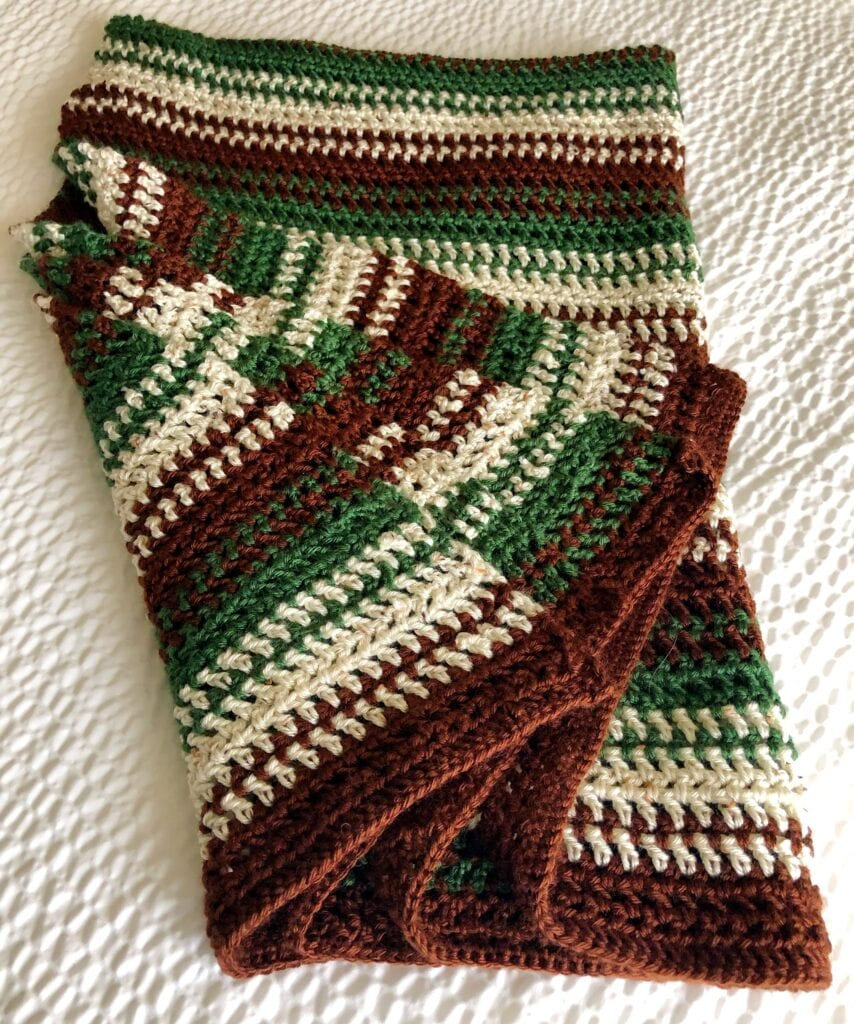 Easy Crochet Throw Folded