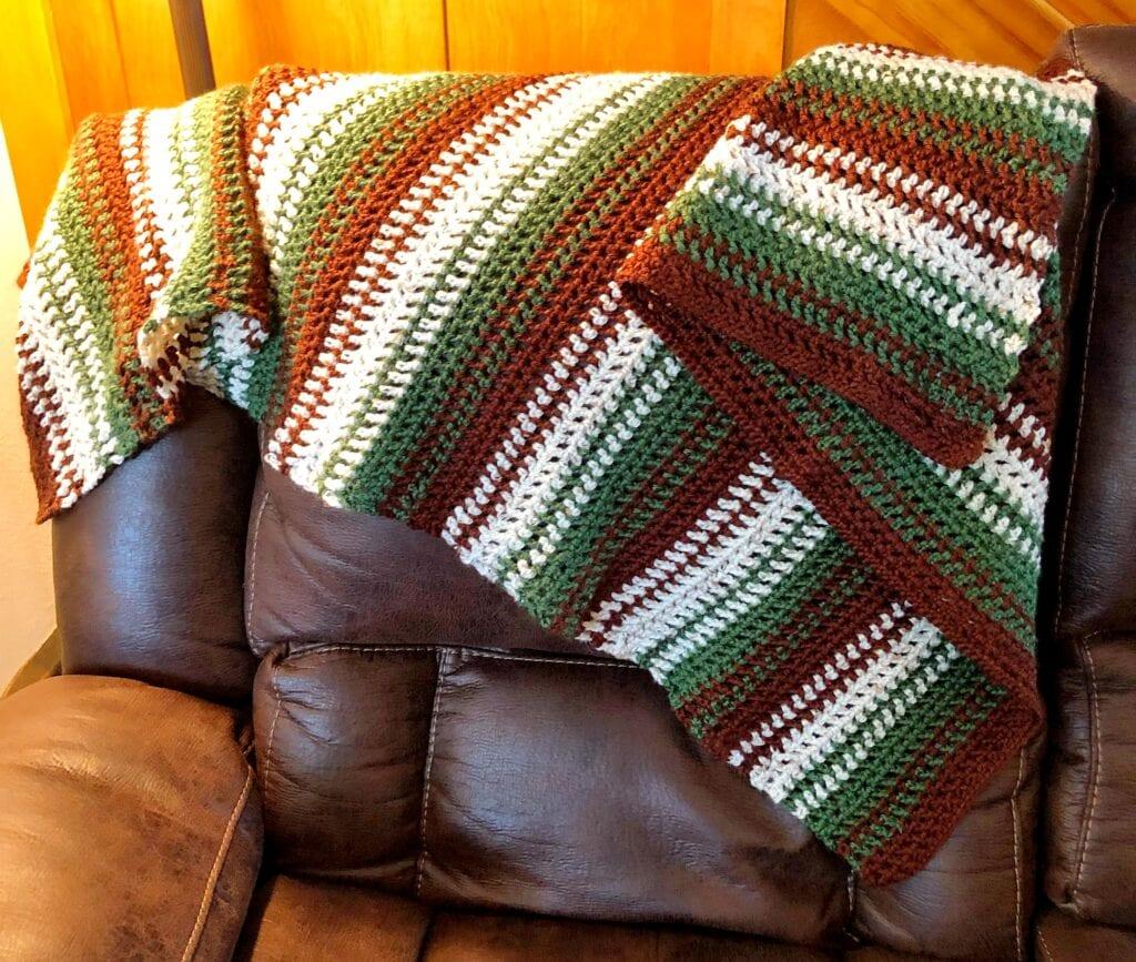 Crochet Blanket Over Couch