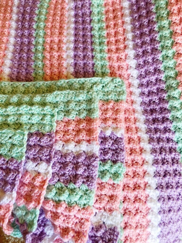 Pastel Crochet Throw without border