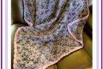 Crochet Modern Baroque Design Throw 1
