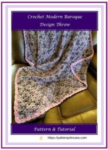 Crochet Modern Baroque Design Throw 1