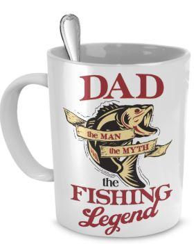 Dad-the-man-the-myth-the-fishing-legend mug