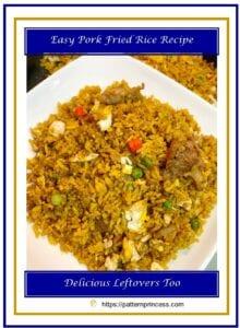 Easy Pork Fried Rice Recipe 1