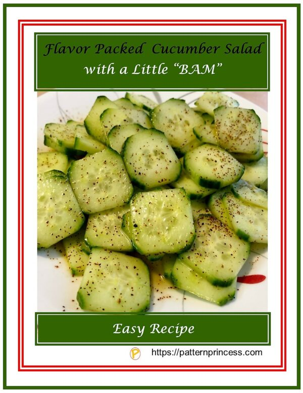 """Flavor Packed Cucumber Salad with a Little """"BAM"""""""