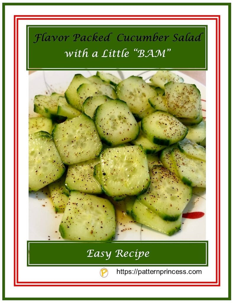 "Flavor Packed Cucumber Salad with a Little ""BAM"""
