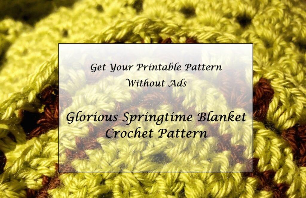 Glorious Springtime Blanket Crochet Pattern Printable