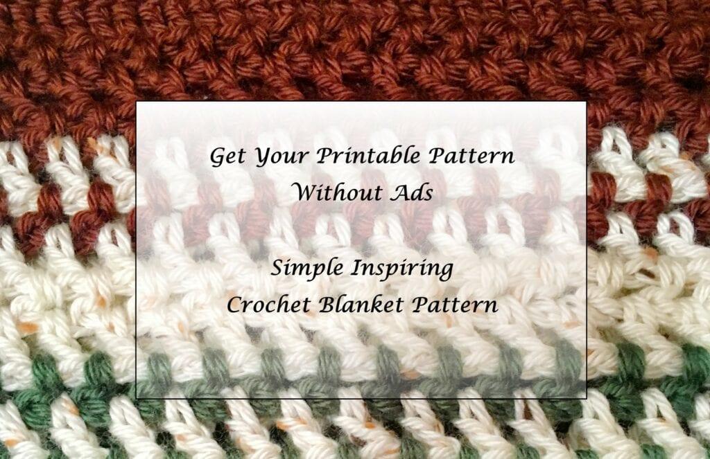 Simple Inspiring Crochet Blanket  printable