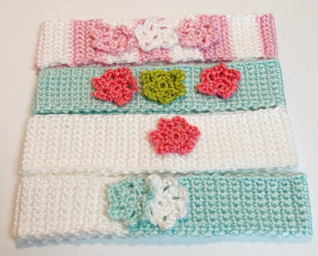 Embellished Crochet Headbands