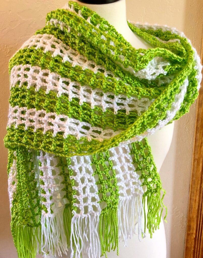 Crochet Open Weave Summer Shawl - Pattern Princess