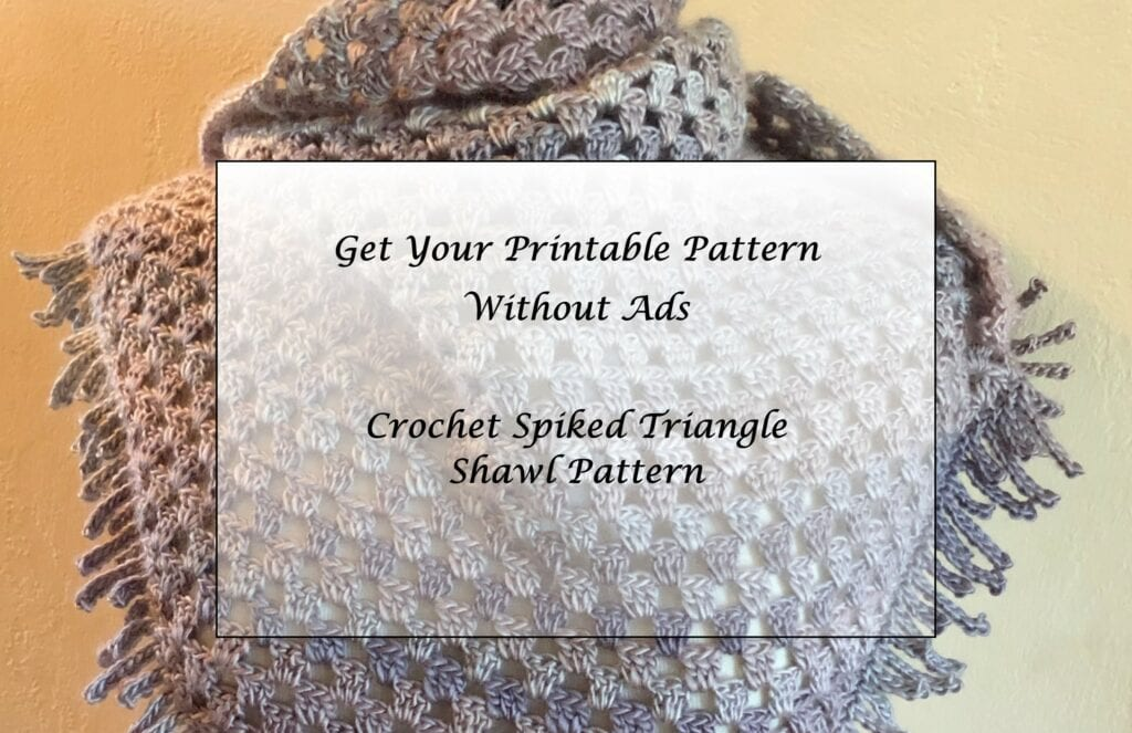 Crochet Spiked Triangle Shawl - Pattern Princess
