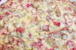 Crustless Rhubarb Custard Pie