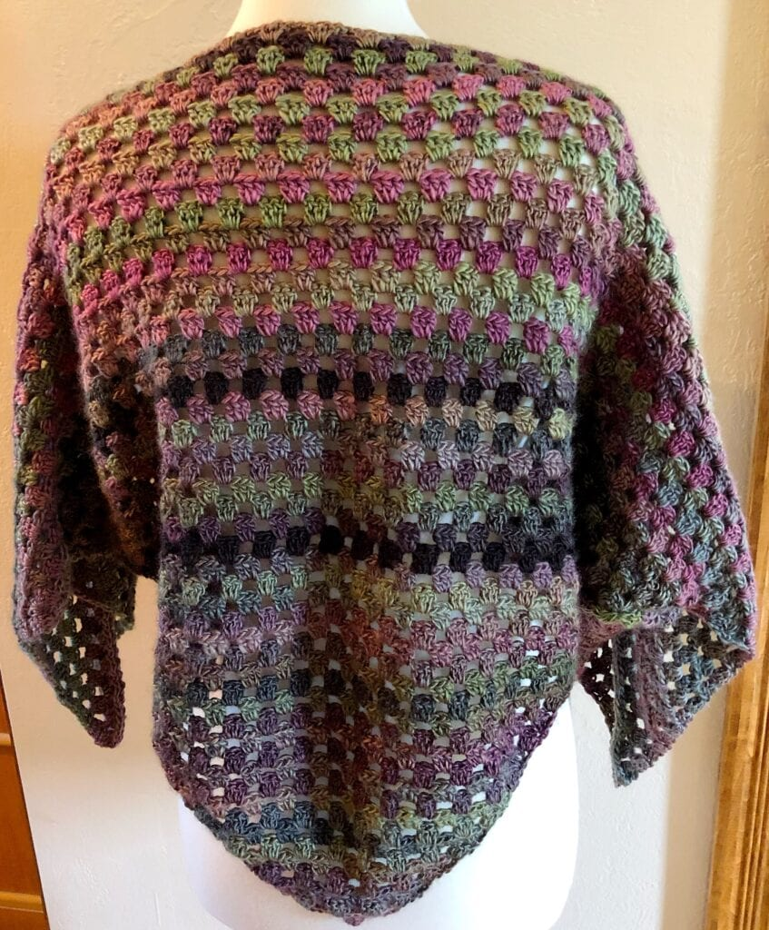 Triangle Poncho back