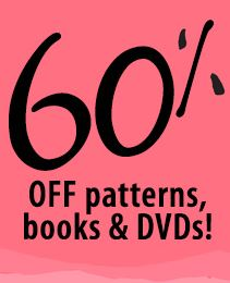 60 % off patterns books and dvds