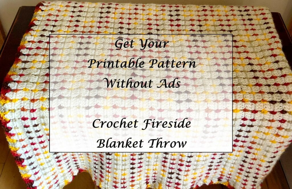 Crochet-Fireside-Blanket-Throw-Printable