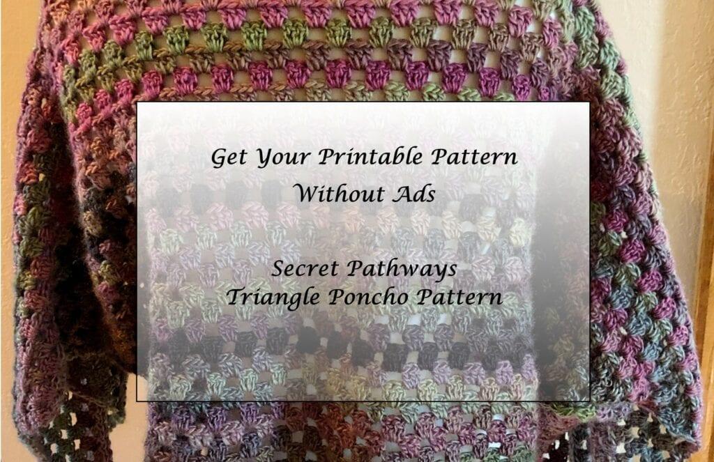 Secret Pathways Triangle Poncho - Pattern Princess