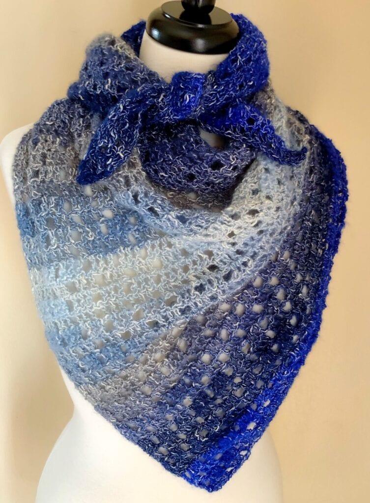 Easy Crochet Triangle Scarf