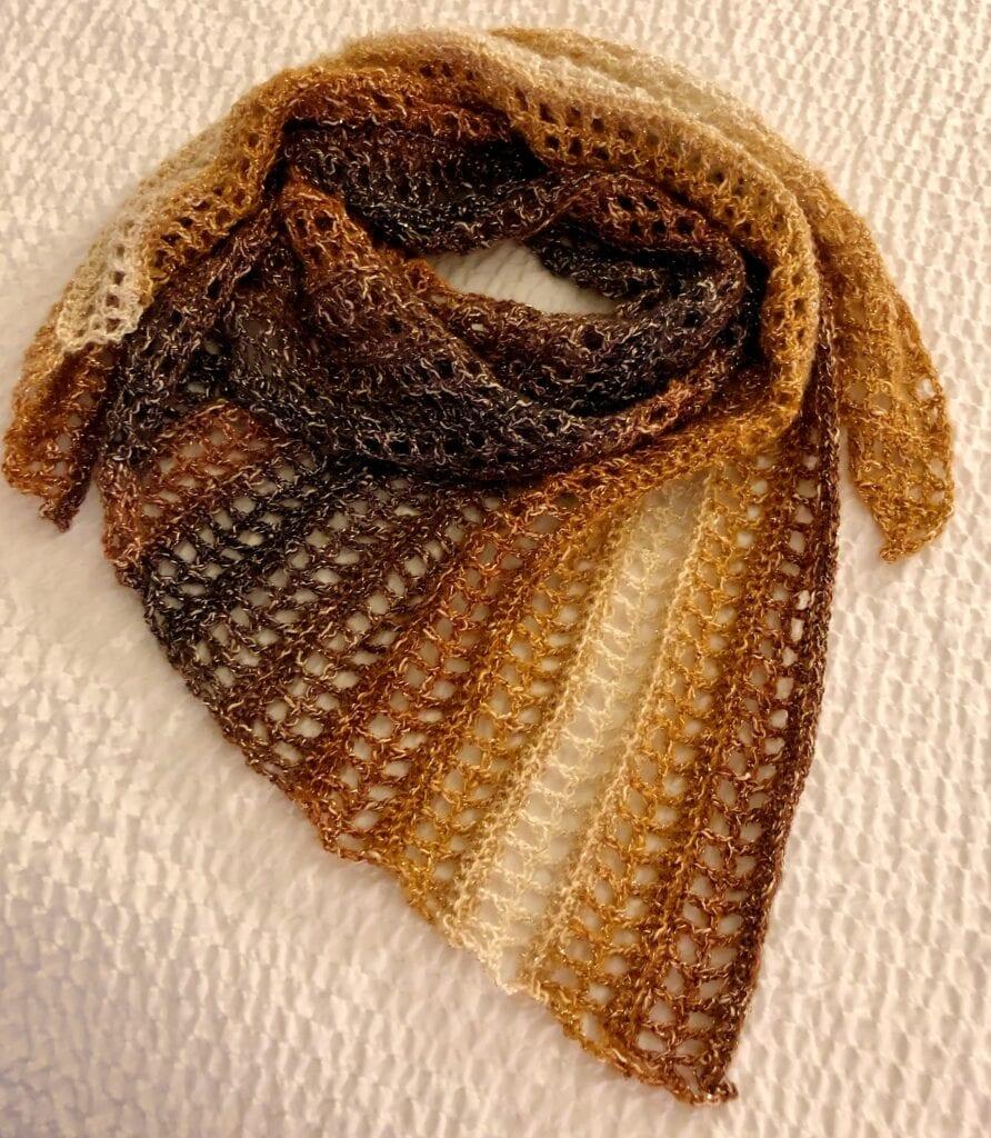 Caramel Delight Scarf Crochet Pattern