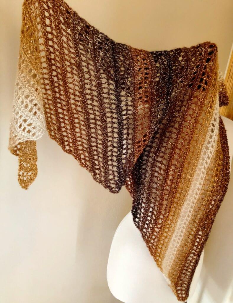 Asymmetrical Triangle Shawl Crocheted
