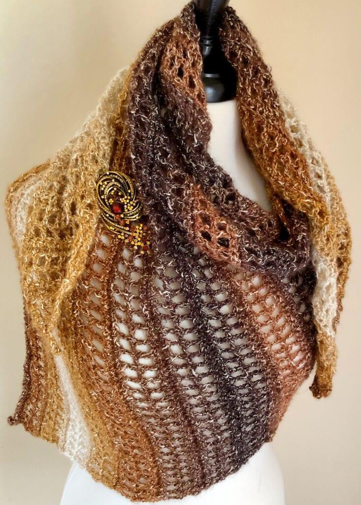 Caramel Delight Crochet Shawlette