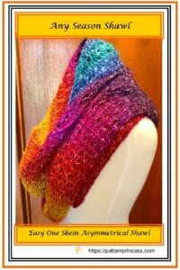 Any Season Shawl Crochet Pattern 1