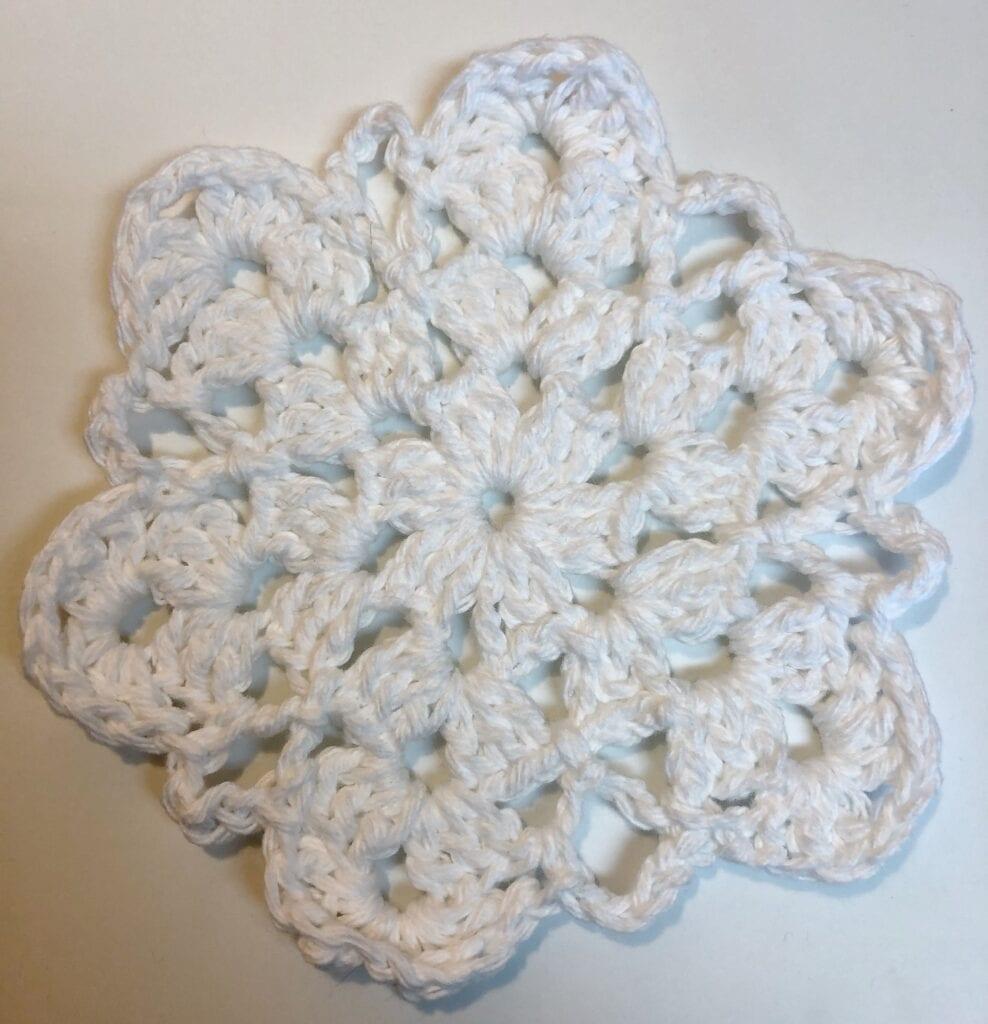 White Snowflake Coaster
