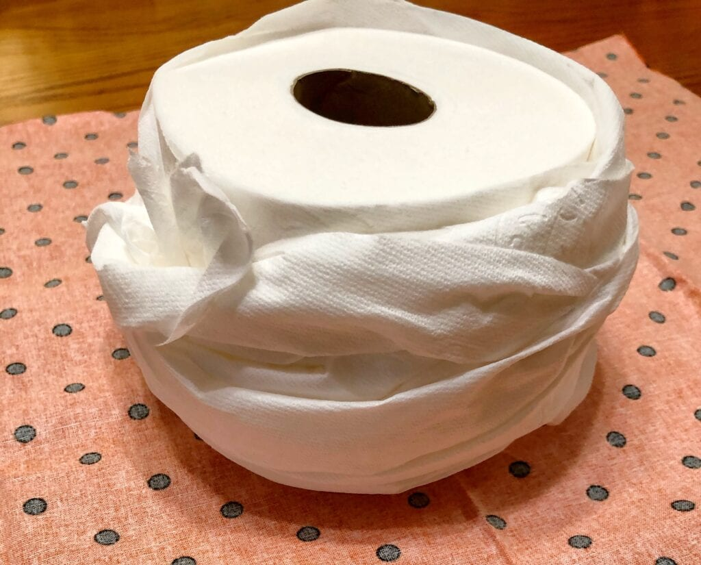 Toilet Paper Loosely Rolled Back up