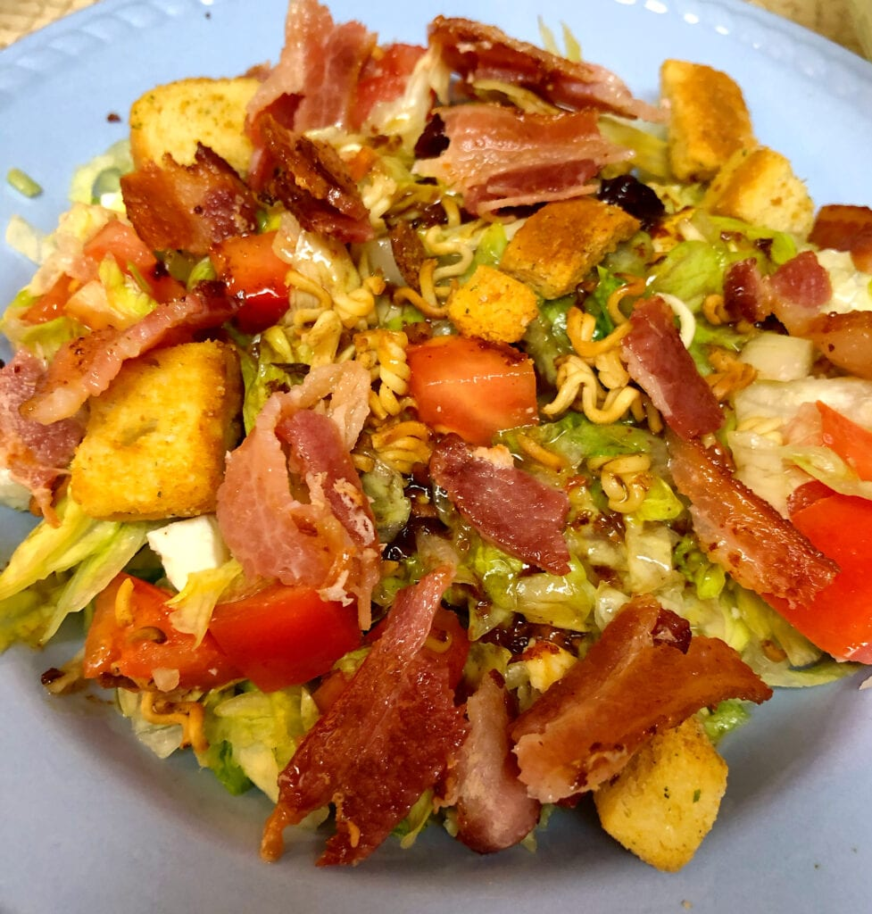 Garden Salad with Warm Bacon Salad Dressing