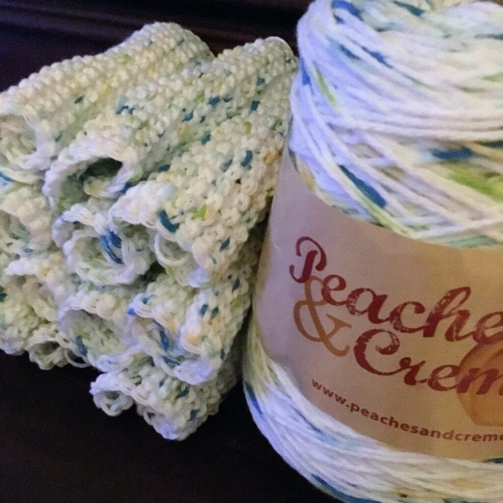 Stack of Tunisian Crochet Washcloths Without Crochet Border Yet