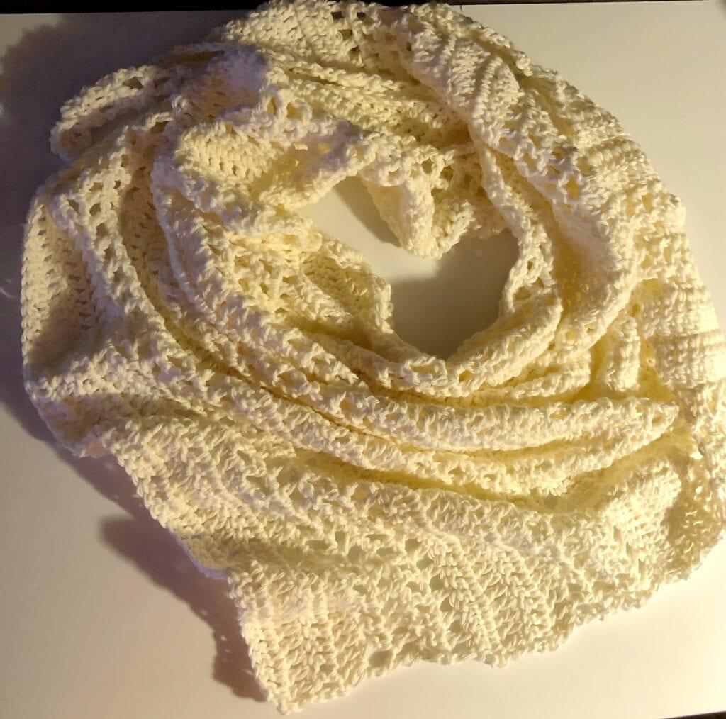 Finished Easy Crochet Shawl Pattern