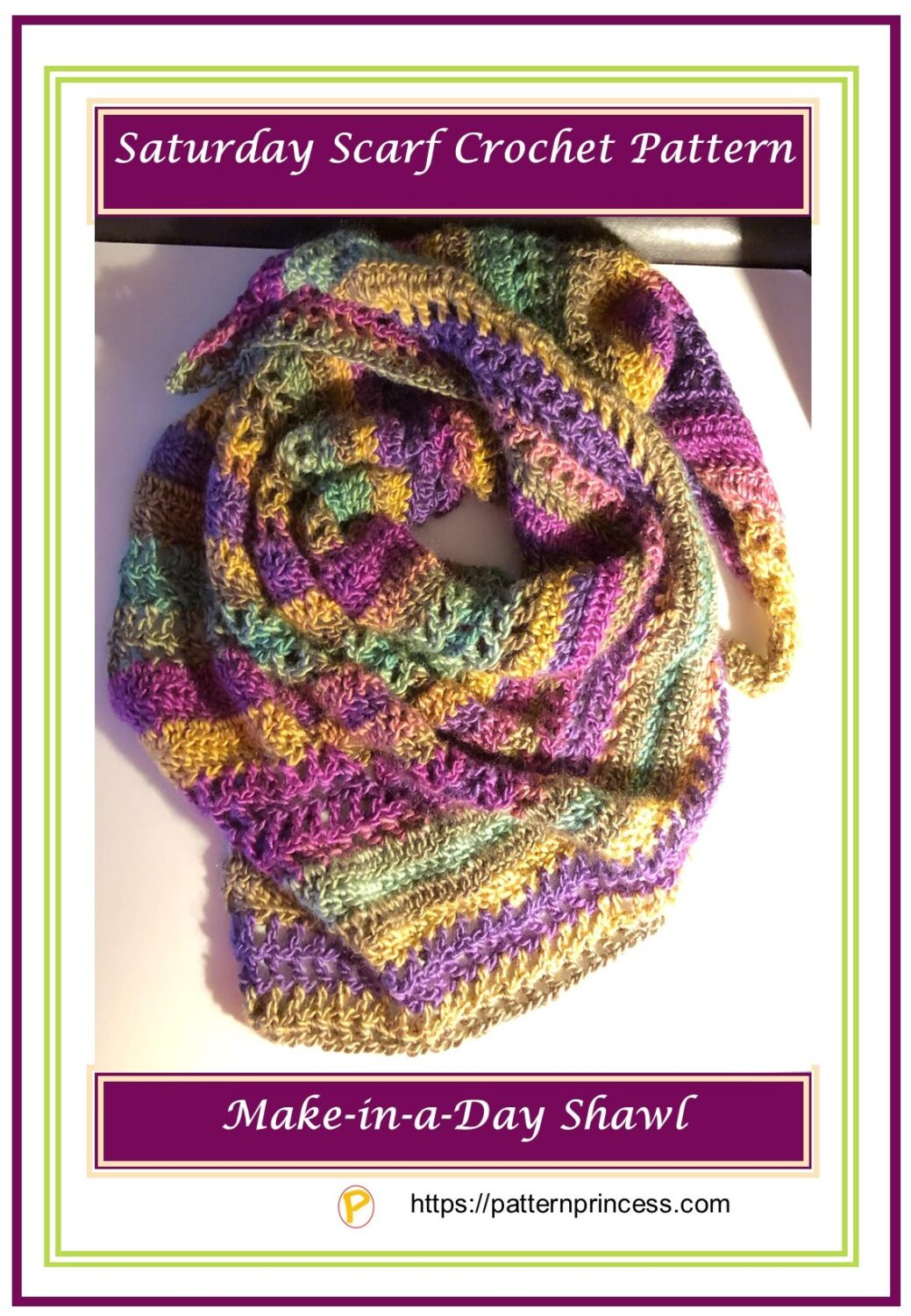 Saturday Scarf Crochet Pattern