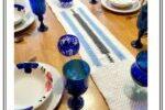 Color Block Crochet Table Runner