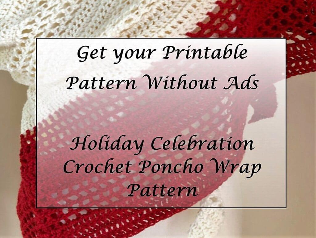 Holiday Celebration Crochet Poncho Wrap Pattern