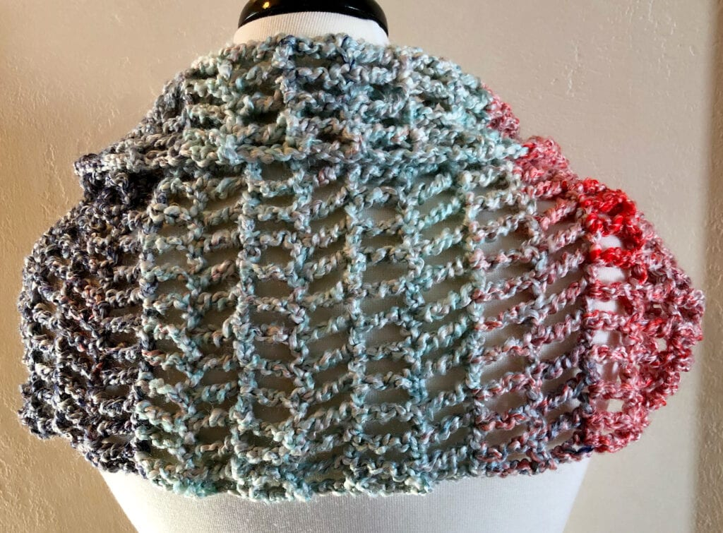 Top Folded Over on Crochet Cover Up