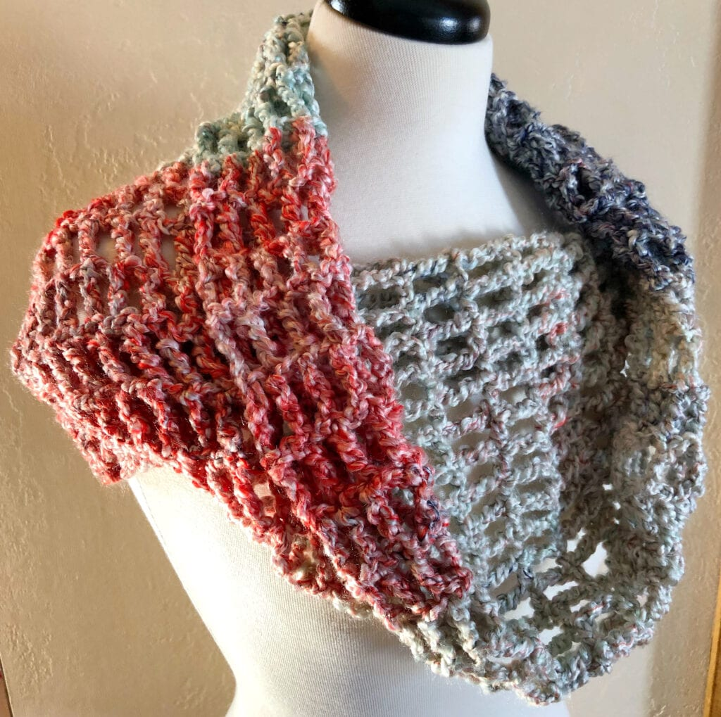 Crochet Cowl Styled with Draping in Front