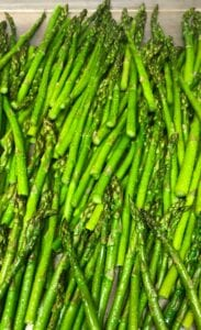 Roasting Asparagus in a Sheet Pan