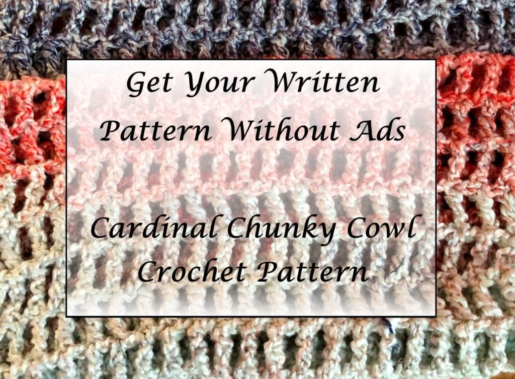 Cardinal Chunky Cowl Crochet Pattern Printable