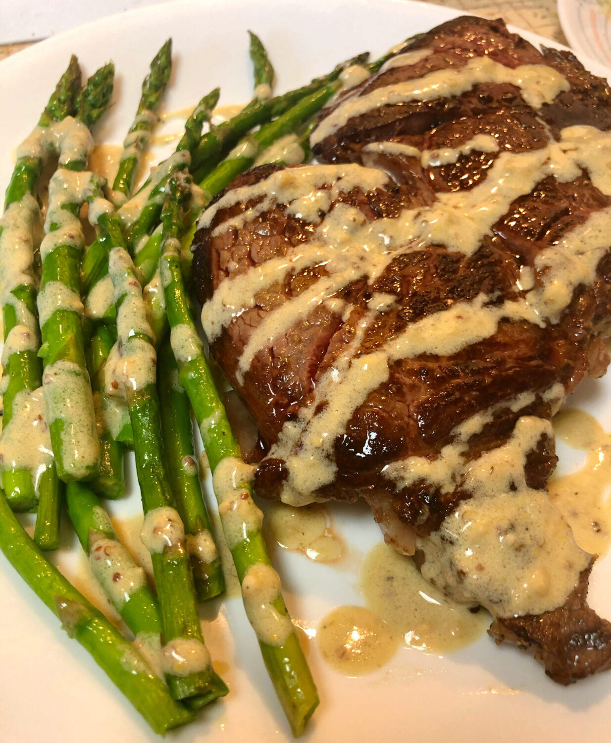 Rich Buttery Sauce with Beef and Asparagus