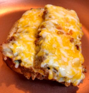 Meatloaf on Buttered Bread in the Frying Pan