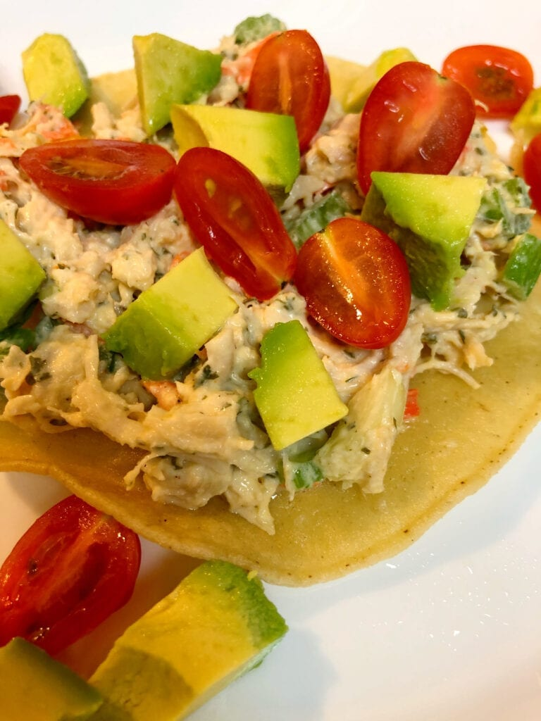 Chicken Salad with Fresh Avocado and Cherry Tomatoes