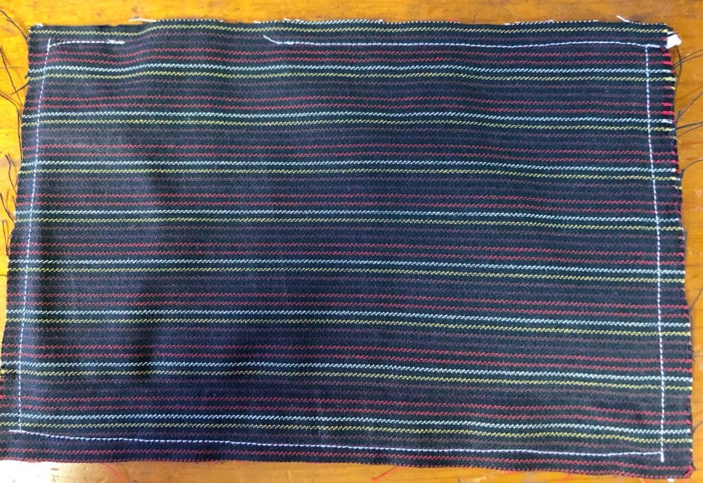First Sewing Pass Completed