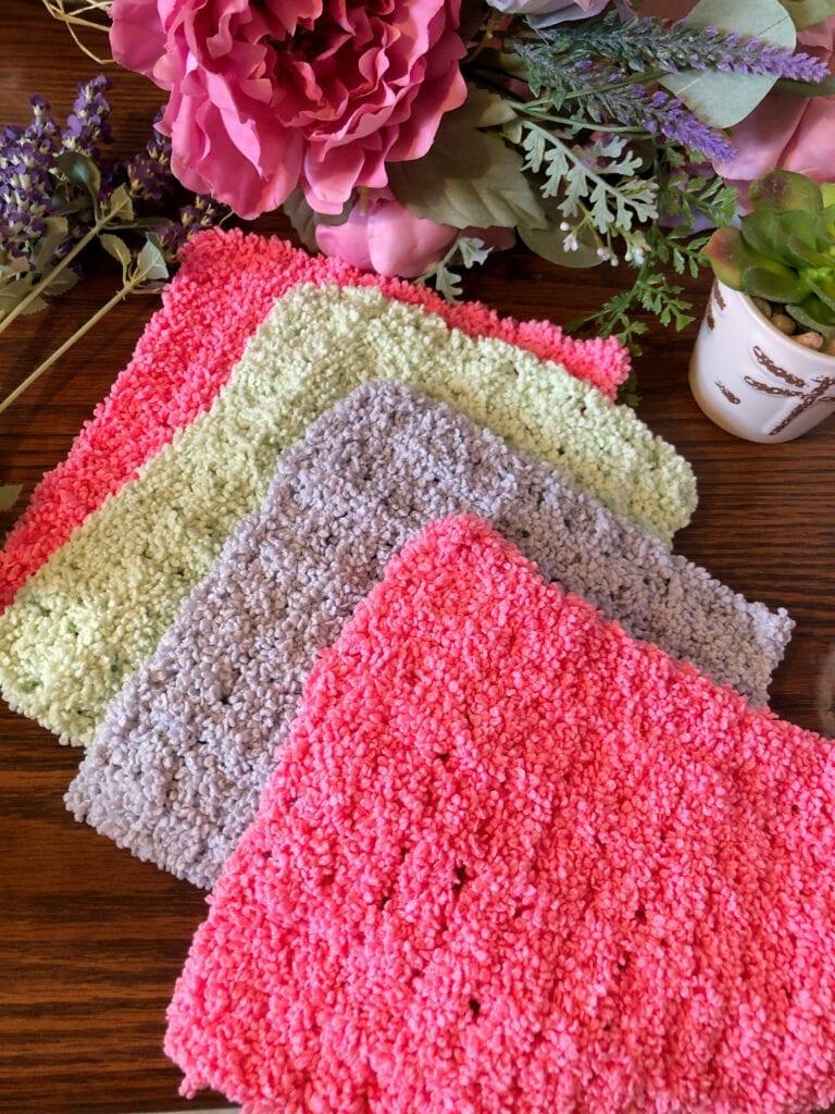 Easy Crochet Plush Washcloth