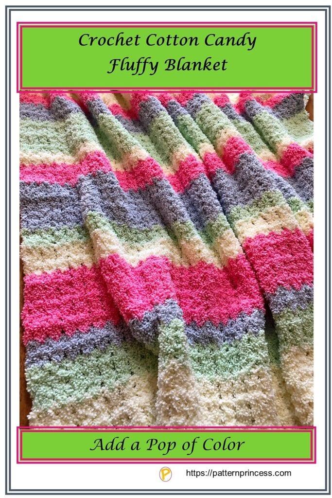Crochet Cotton Candy Fluffy Blanket