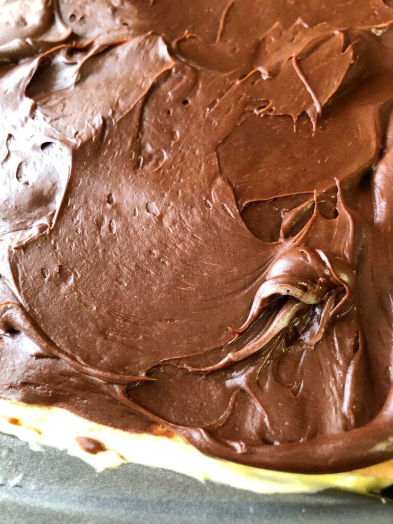 Chocolate Layer on No-Bake Dessert