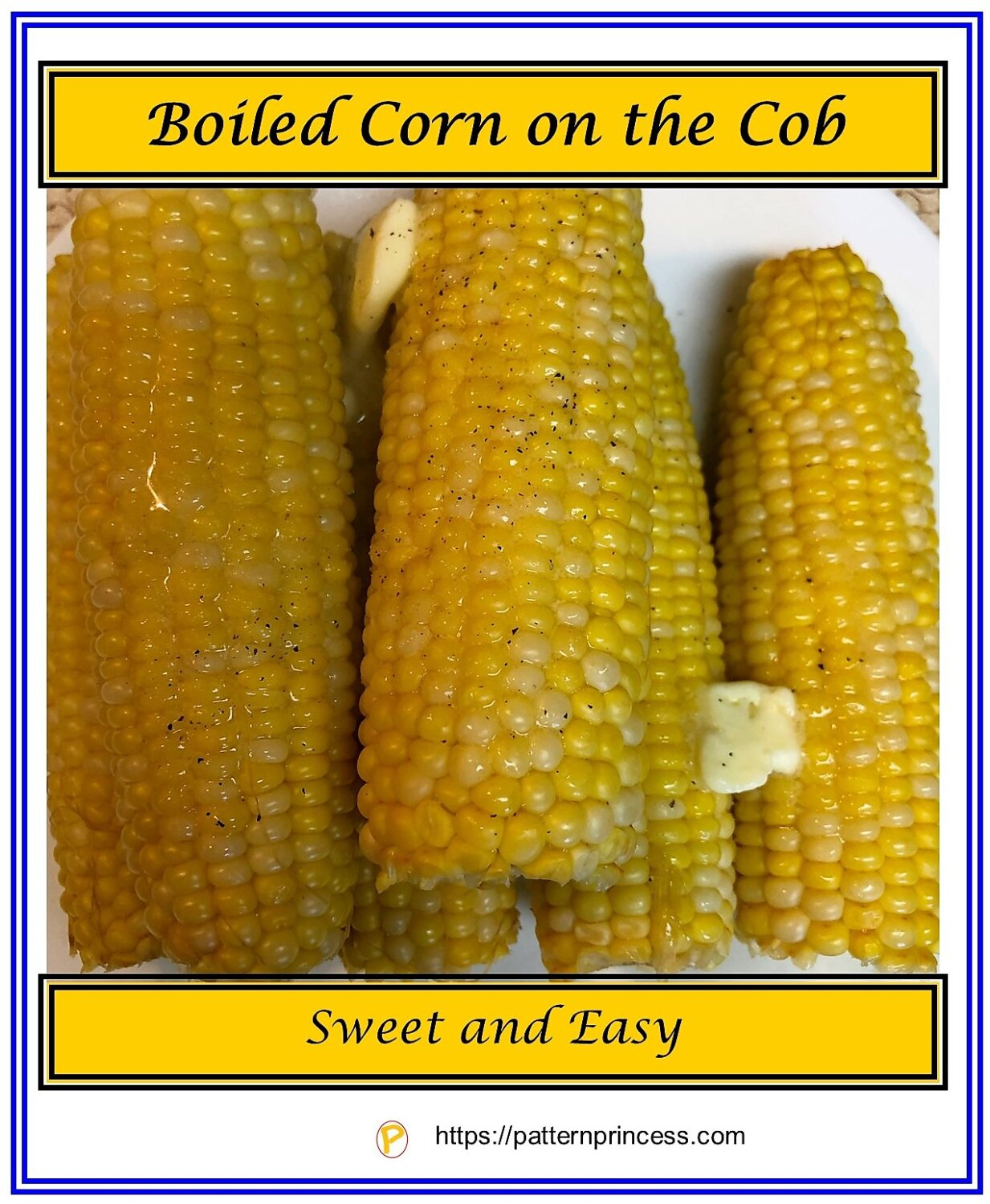 Boiled Corn on the Cob
